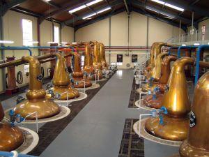 Salle des alambics à Glenfiddich
